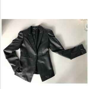 Elizabeth and James Black Leather Blazer/Jacket